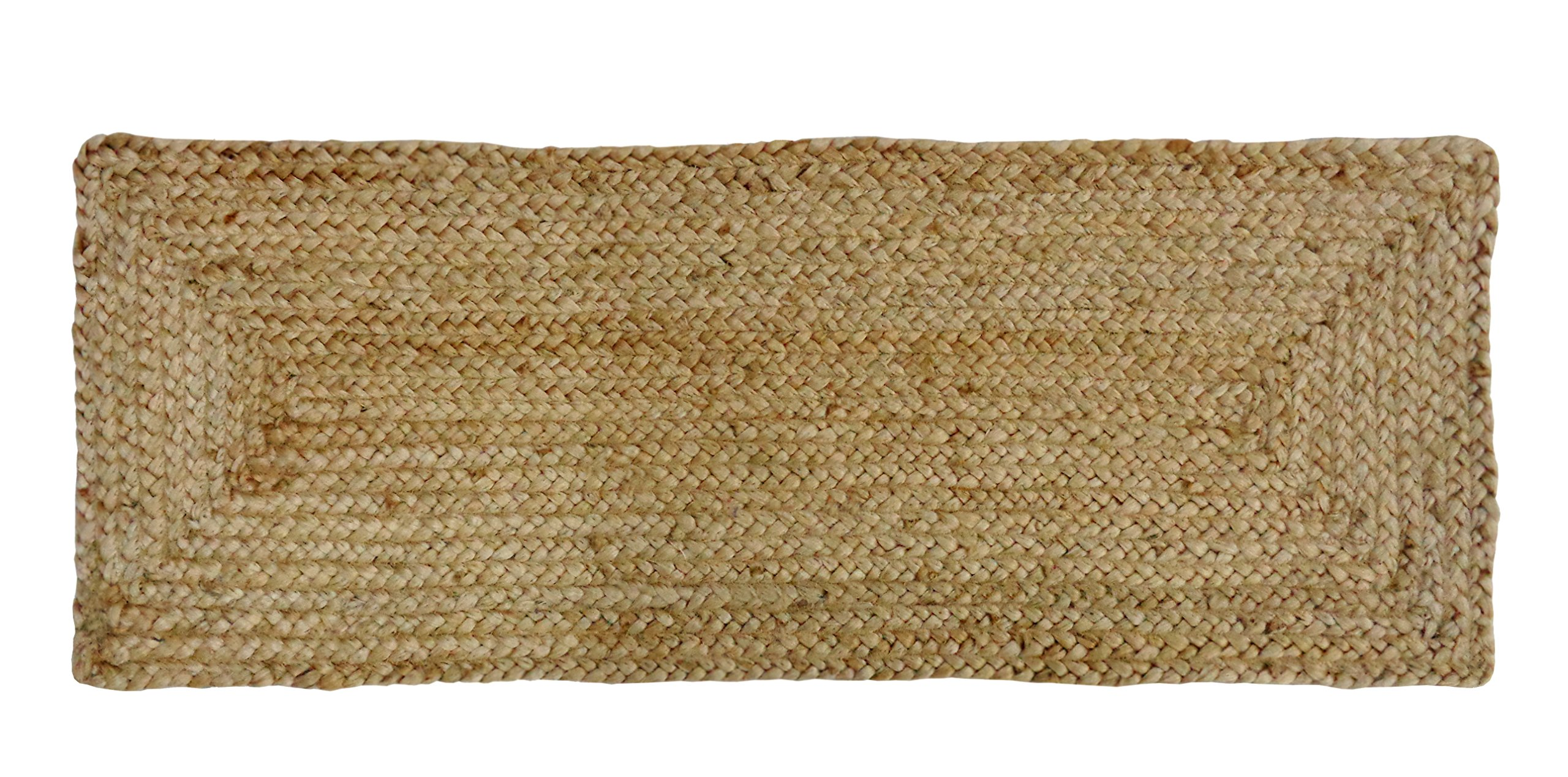 Cotton Craft - 100% Jute- Reversible Jute Braided Table Runner - Natural - 13 x 36 Inch - Hand Woven Rectangular Plain - Spot Clean Only.