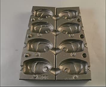Caistor Bait & Tackle Aluminio Jig Head Molde para pirks, señuelos Jigs, 4 Diferentes