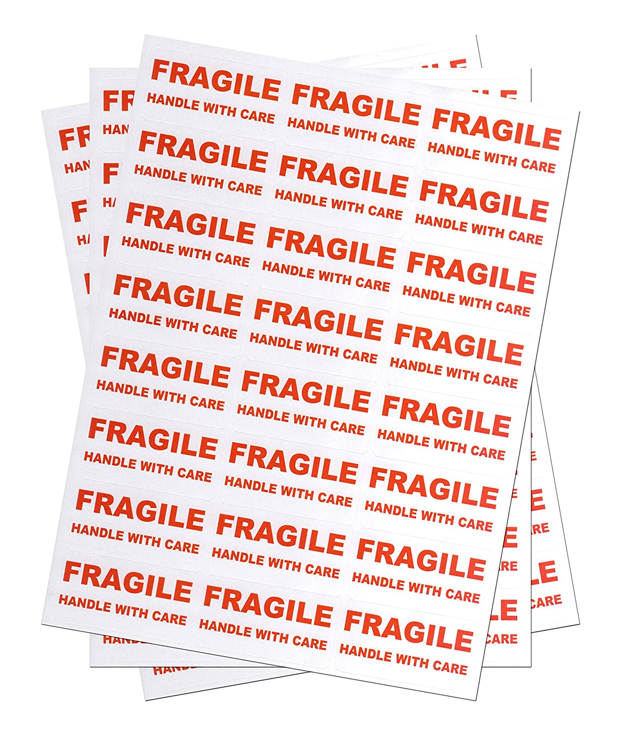 1200 FRAGILE - Handle with care Labels Medium Stickers Mediasave