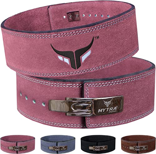 Mytra Fusion Leather Weight Lifting Power Lifting Back Support Belt Weight Lifting Belt Men Weight Lifting Belt Women Weightlifting Belt