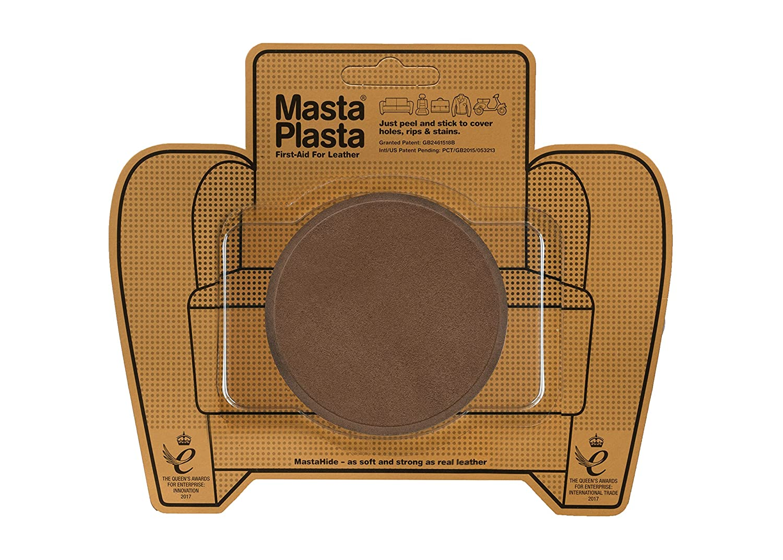 BROWN SUEDE CIRCLE 8cmx8cm