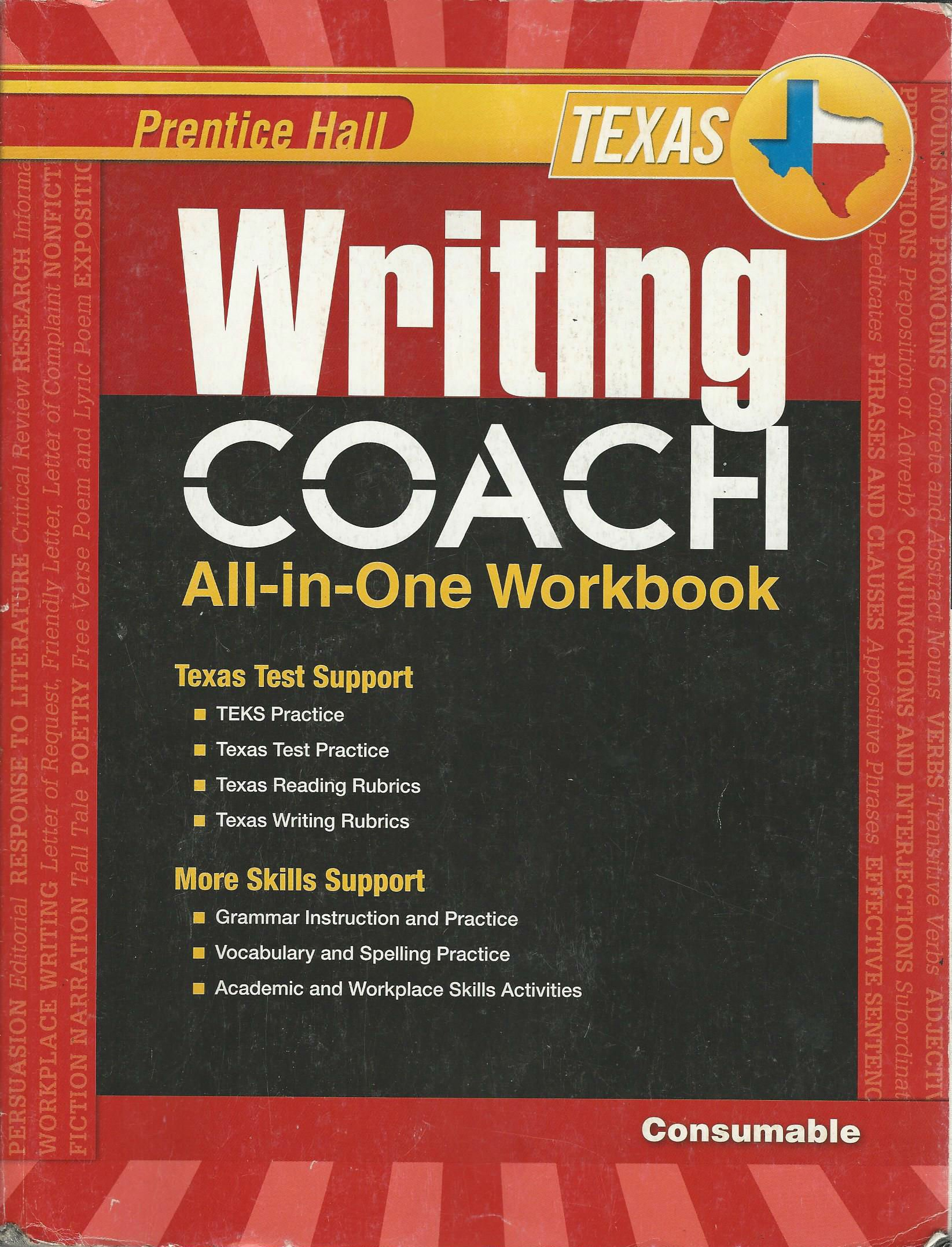 Prentice Hall Texas Writing Coach All-In-One Workbook: Grade 8:  9780133212556: Amazon.com: Books