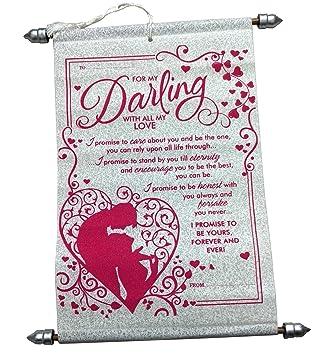 Lilone Beautiful Fancy Scroll Promising Love Message Best Valentine