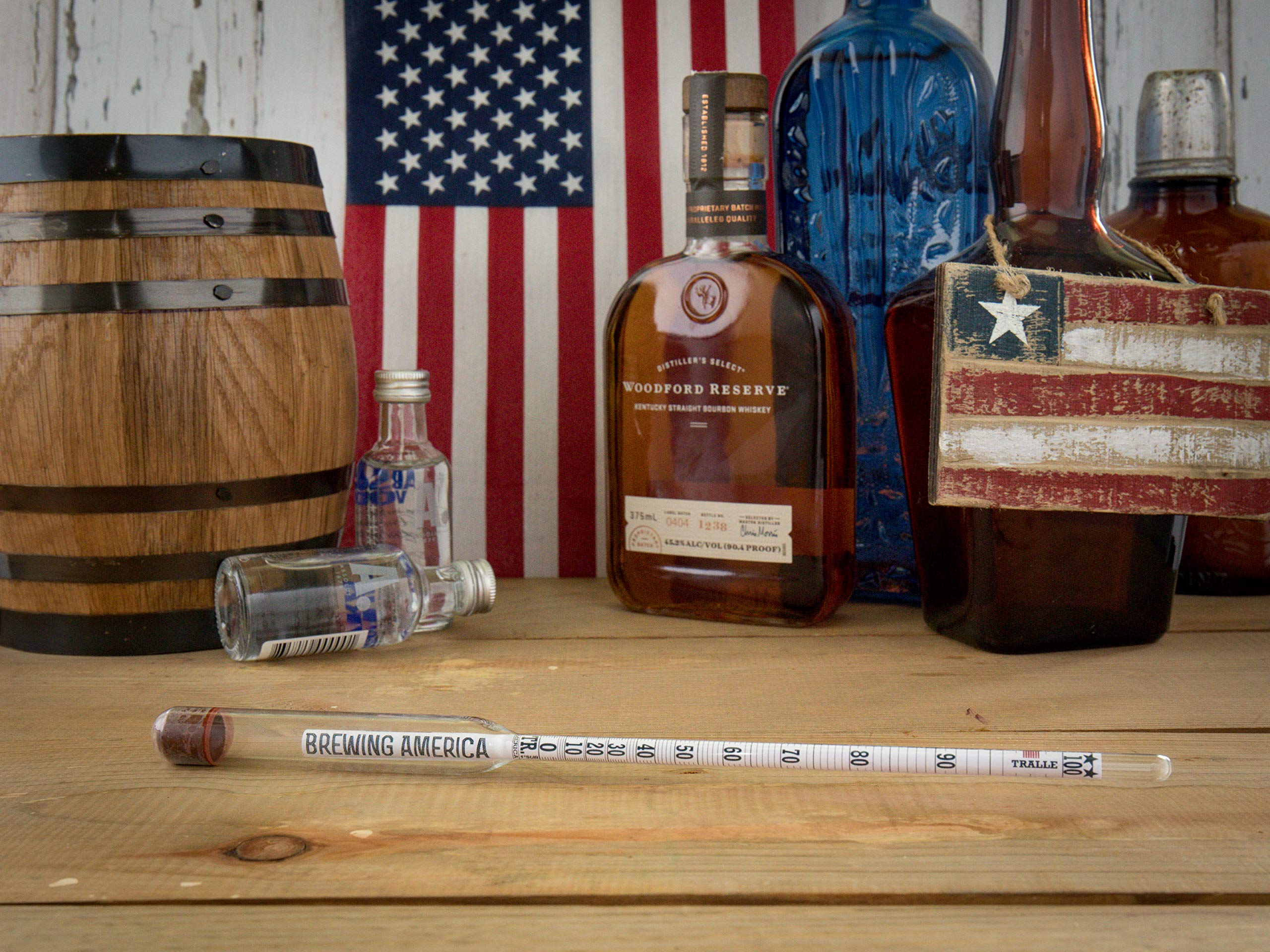 American-made Alcohol Hydrometer Tester 0-200 Proof & Tralle Pro Series Traceable - Distilling Moonshine Alcoholmeter by Brewing America (Image #5)