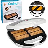 Empanada and Churro Maker Machine- Cooker w 4 Removable Plates- Easier than Empanada Press or Churro Press