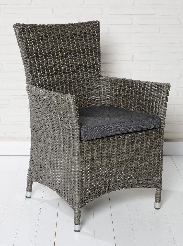 6x Hochwertiger Polyrattan Gartenstuhl Aluminium Gestell Sessel ...