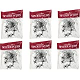 Pack of 2 Stretchable Spider Cob Web Halloween Decoration with 6 Large Spiders and 10 Small Spiders (Pack of 3)