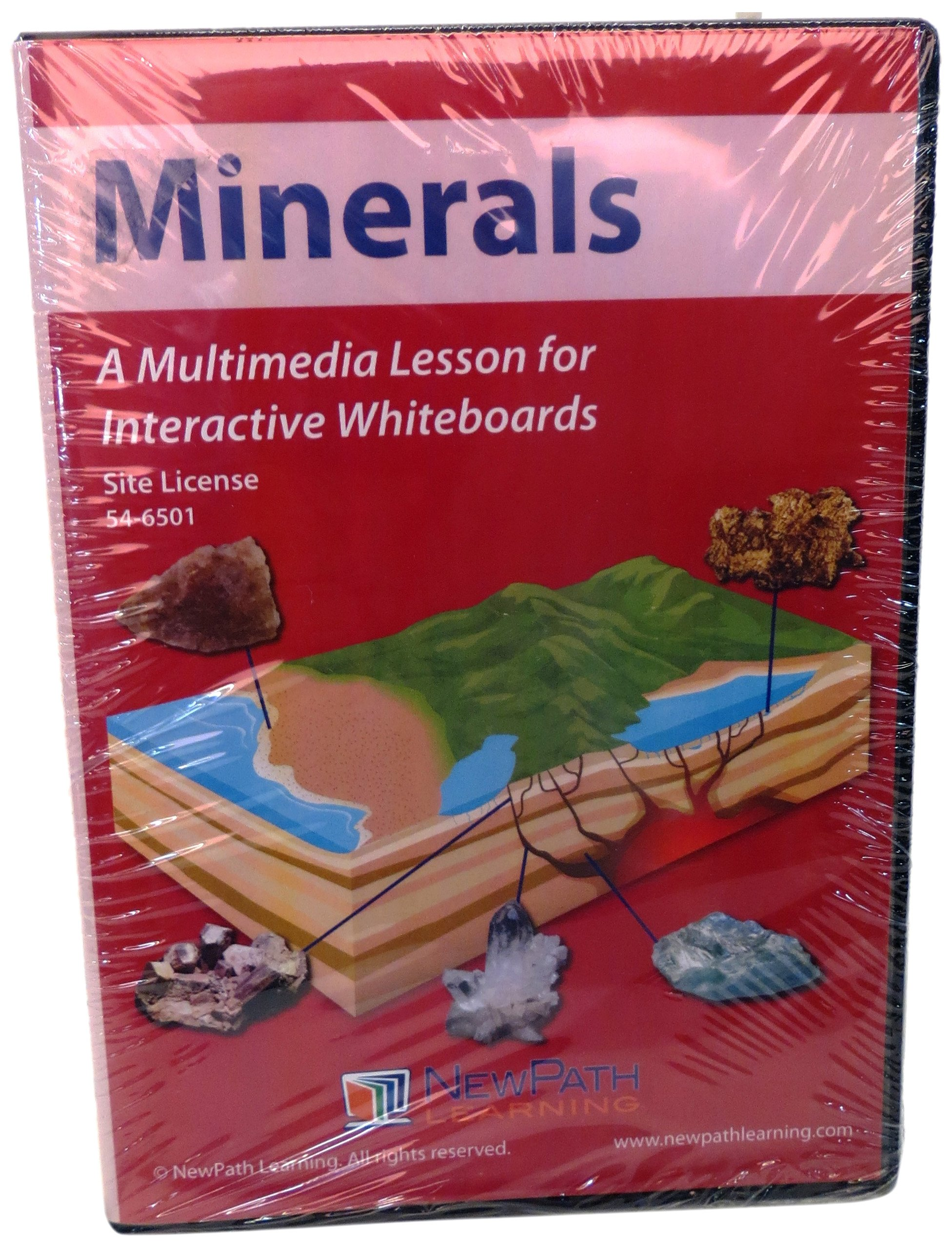 Site License CD-ROM: Multimedia Lesson for Interactive Whiteboards, Minerals, (78673)