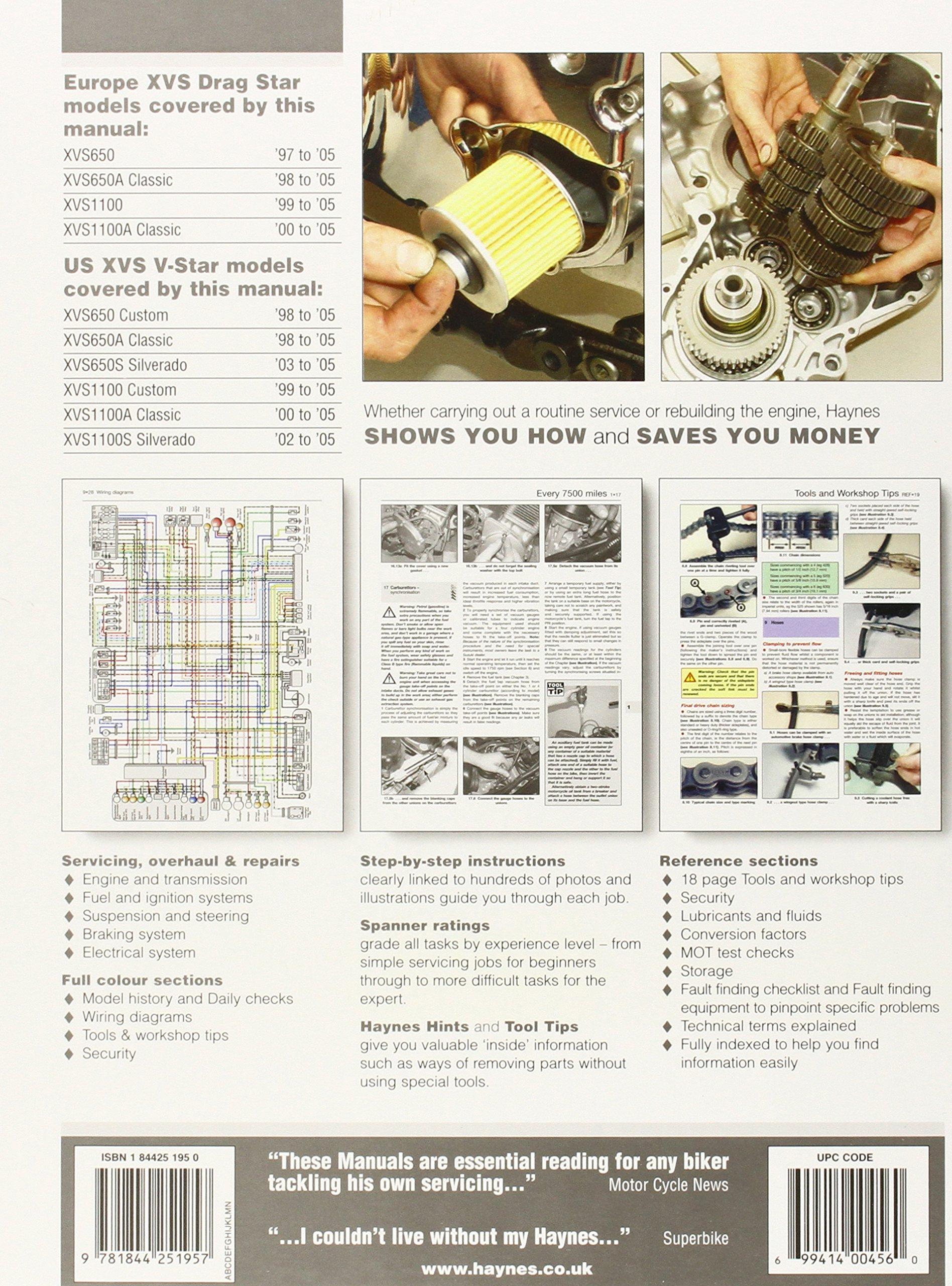 Yamaha XVS650 & 1100 (Drag Star, V-Star) '97 to '05 (Haynes Service & Repair  Manual): Ken Freund: 9781844251957: Amazon.com: Books