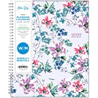 """Blue Sky 2022 Weekly & Monthly Planner, 8.5"""" x 11"""", Flexible Cover, Wirebound, Laila (137273-22)"""