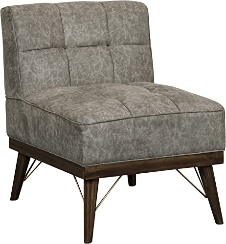 Pulaski Wood Base Grey, 24.75 W x 31.00 D x 31.50 H Upholstered Accent Chair