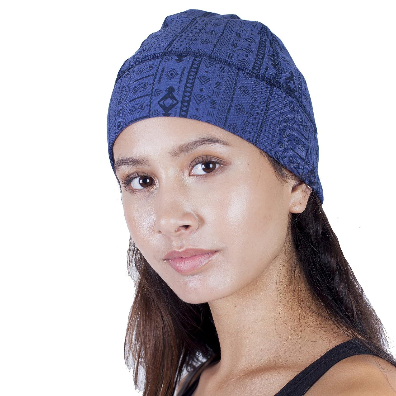 Unisex Organic Cotton Winter Fleece lined Hiking Beanie Hat-Blue at Amazon  Women s Clothing store  87796719654