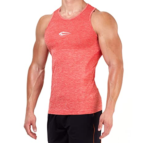 SMILODOX Tank Top Hombres | Seamless - Camiseta muscular con estampado para deporte, Gym fitness