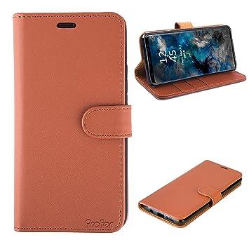 Profer Samsung Galaxy S9 Coque de Protection, Housse Easy Etui Transparent Dorsale en PU Gel