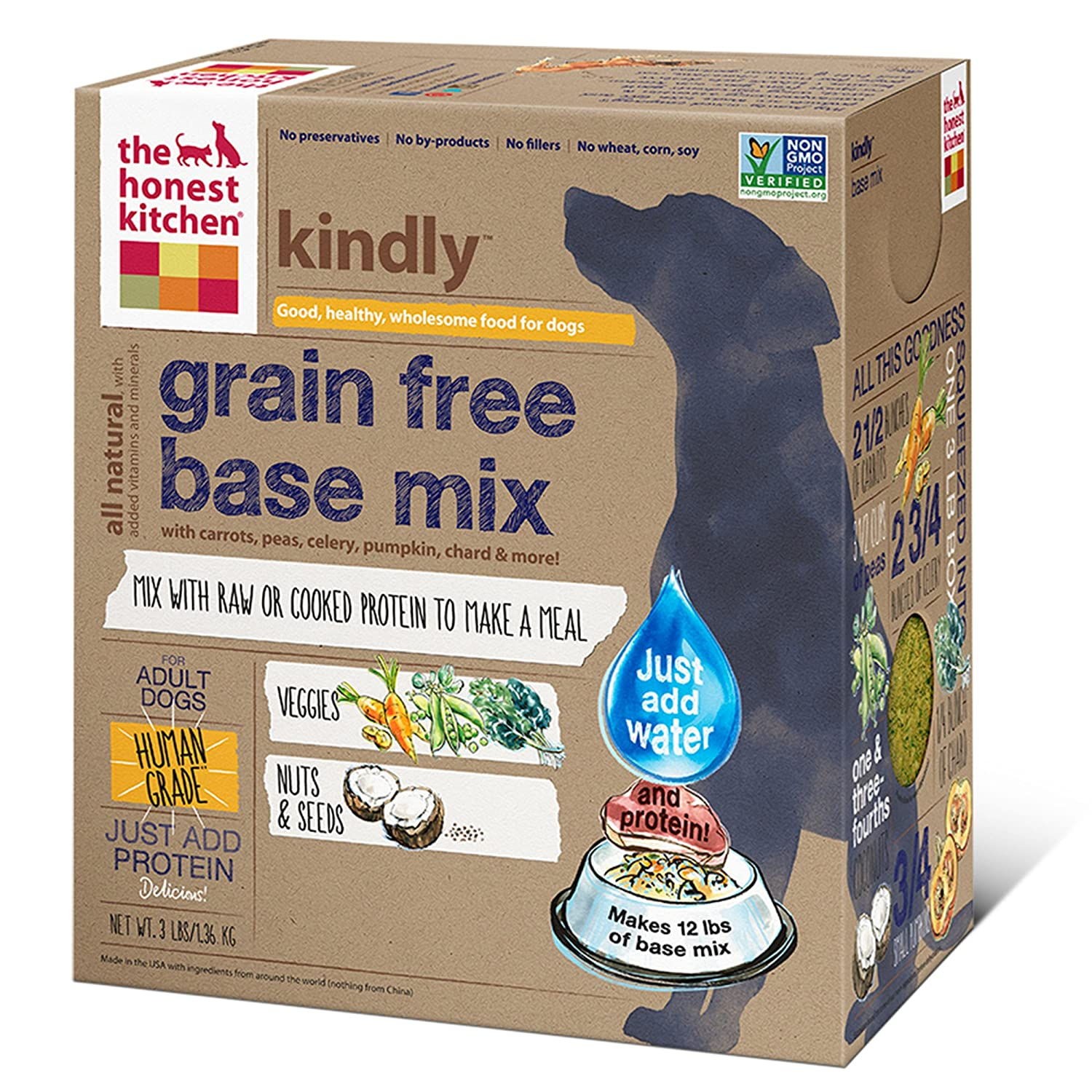 the honest kitchen kindly grain free base mix natural human