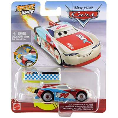 Disney Cars XRS Rocket Racing 1:64 Die Cast Car with Blast Wall: Bumper Save #90 Paul Conrev: Toys & Games
