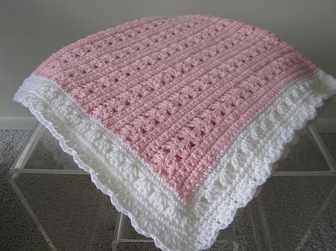 Amazoncom New Hand Crochet Baby Girl Blanket Handmade