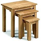 Julian Bowen Coxmoor Tables gigognes en chêne