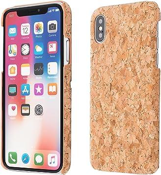 ECENCE Apple iPhone X Corcho Funda Caja Caso Madera Natural Hard ...