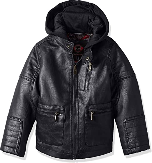 Urban Republic Boys Twill Faux Sherpa Lined Hooded Jacket