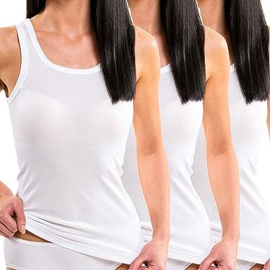 HERMKO 1325 Kit de Tres Camisas Interiores para Mujer, Hechas de ...