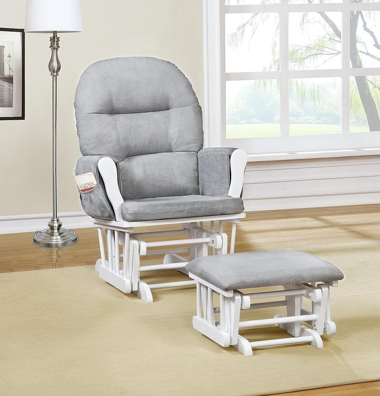 Amazon Naomi Home Brisbane Glider & Ottoman Set with Cushion