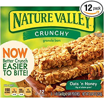 Amazon nature valley crunchy granola bars oats n honey 12 nature valley crunchy granola bars oats n honey 12 count bars ccuart Image collections