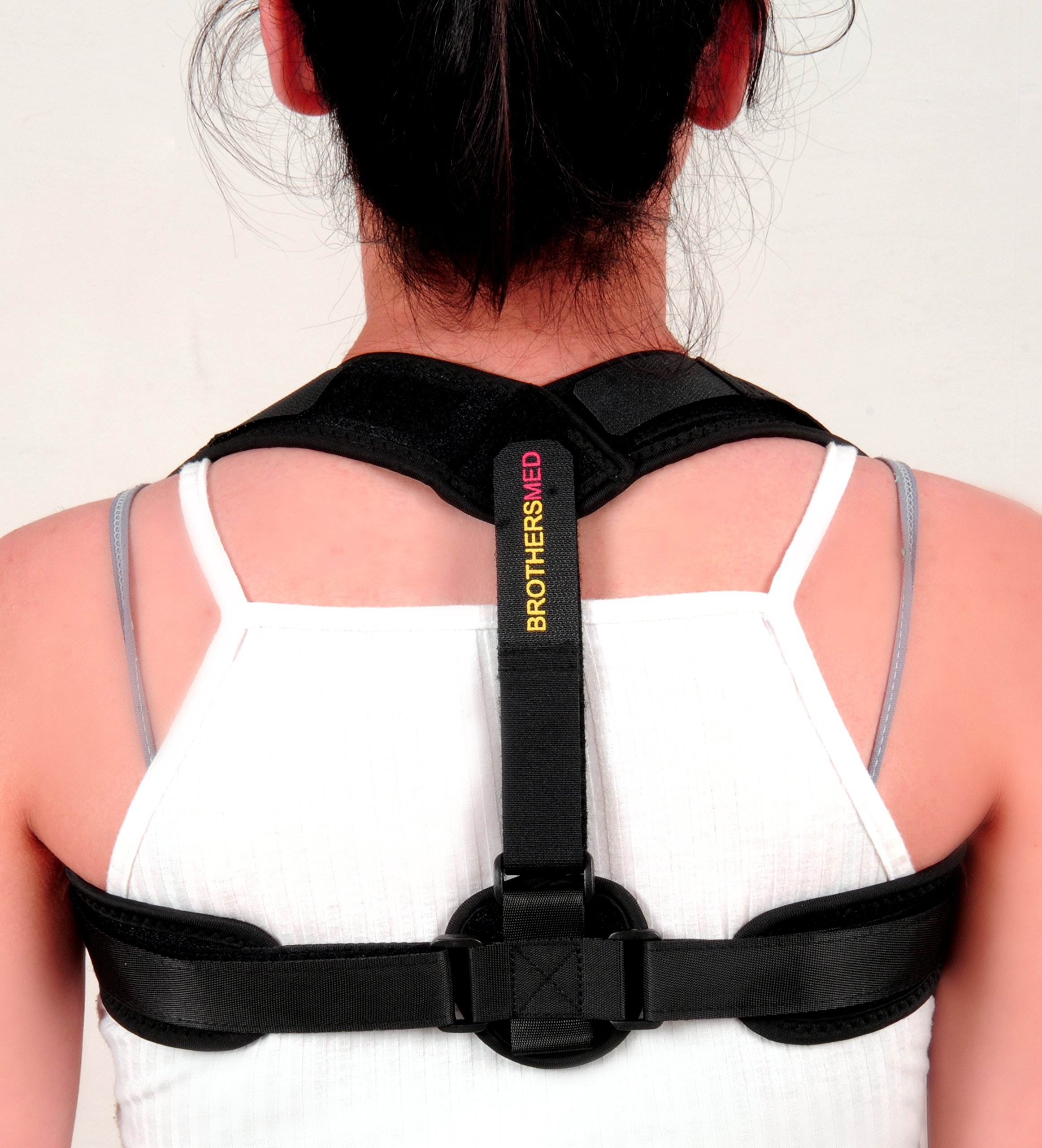 Posture Corrector for Women & Men, Orthopedic Back Support,Fully Adjustable, Breathable and Comfortable Support Brace,Upper Back & Neck Pain Relief by Brothers (Image #1)