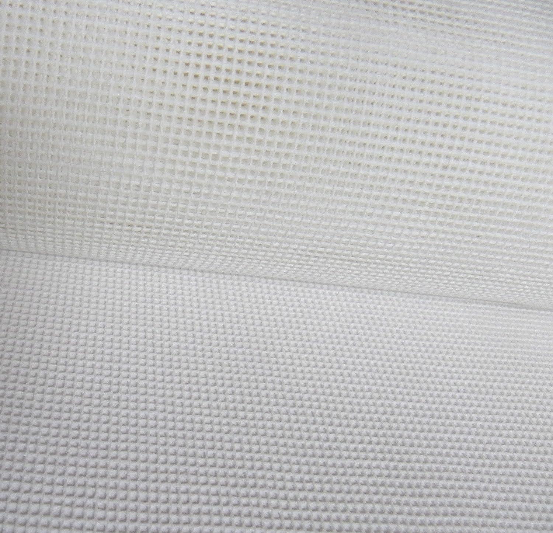 Zweigart, tela intrecciata per tappezzeria, 10 fili, 50 x 50 cm, colore bianco