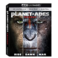Deals on Planet of the Apes Trilogy 4K Ultra HD