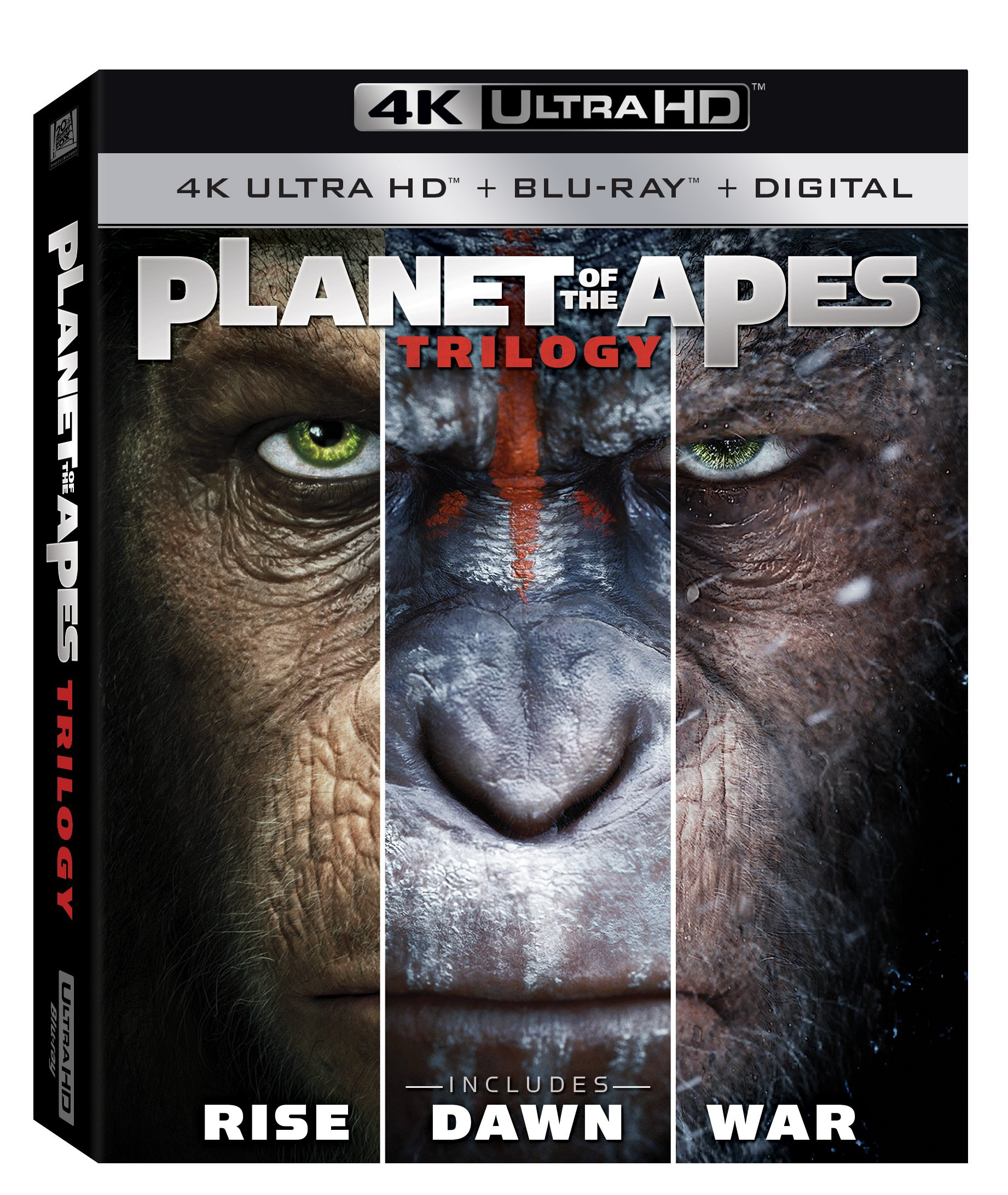 4K Blu-ray : Planet of the Apes Trilogy (With Blu-Ray, Boxed Set, 4K Mastering, Widescreen, Digital Theater System)