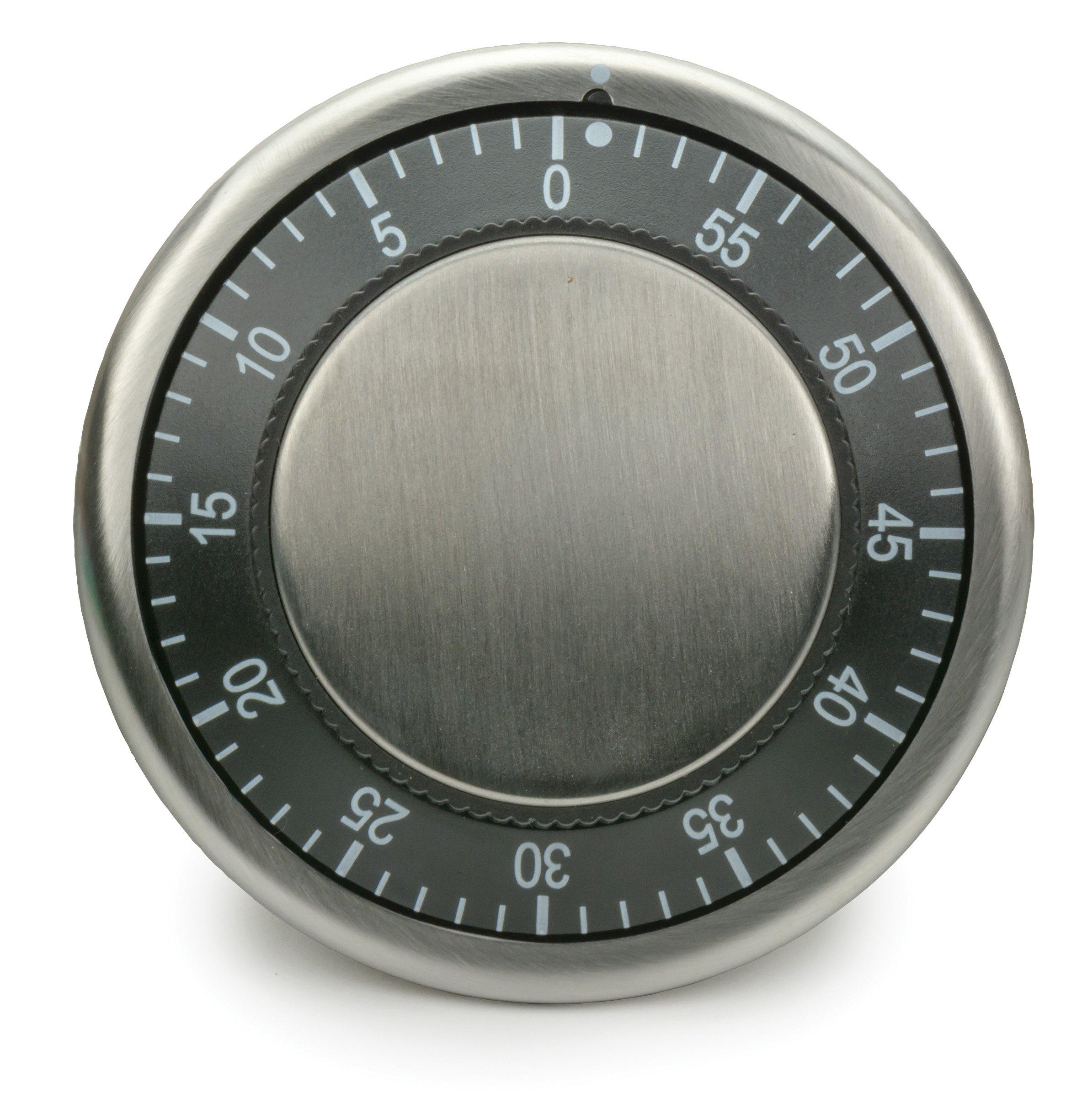 RSVP Endurance Stainless Steel Easy Read Kitchen Timer, Black