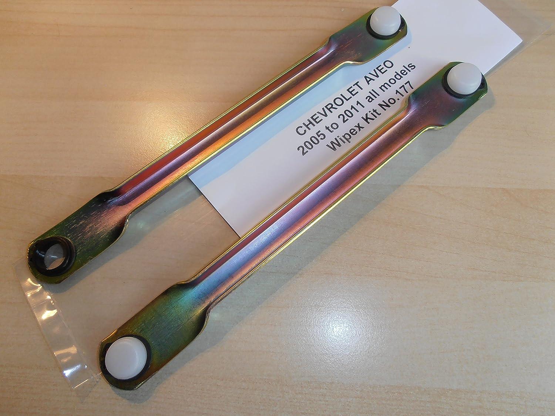 Chevrolet Aveo 2005 a 2011 Motor para limpiaparabrisas Linkage de barra de empuje Set WIPEX kitno. 177: Amazon.es: Coche y moto