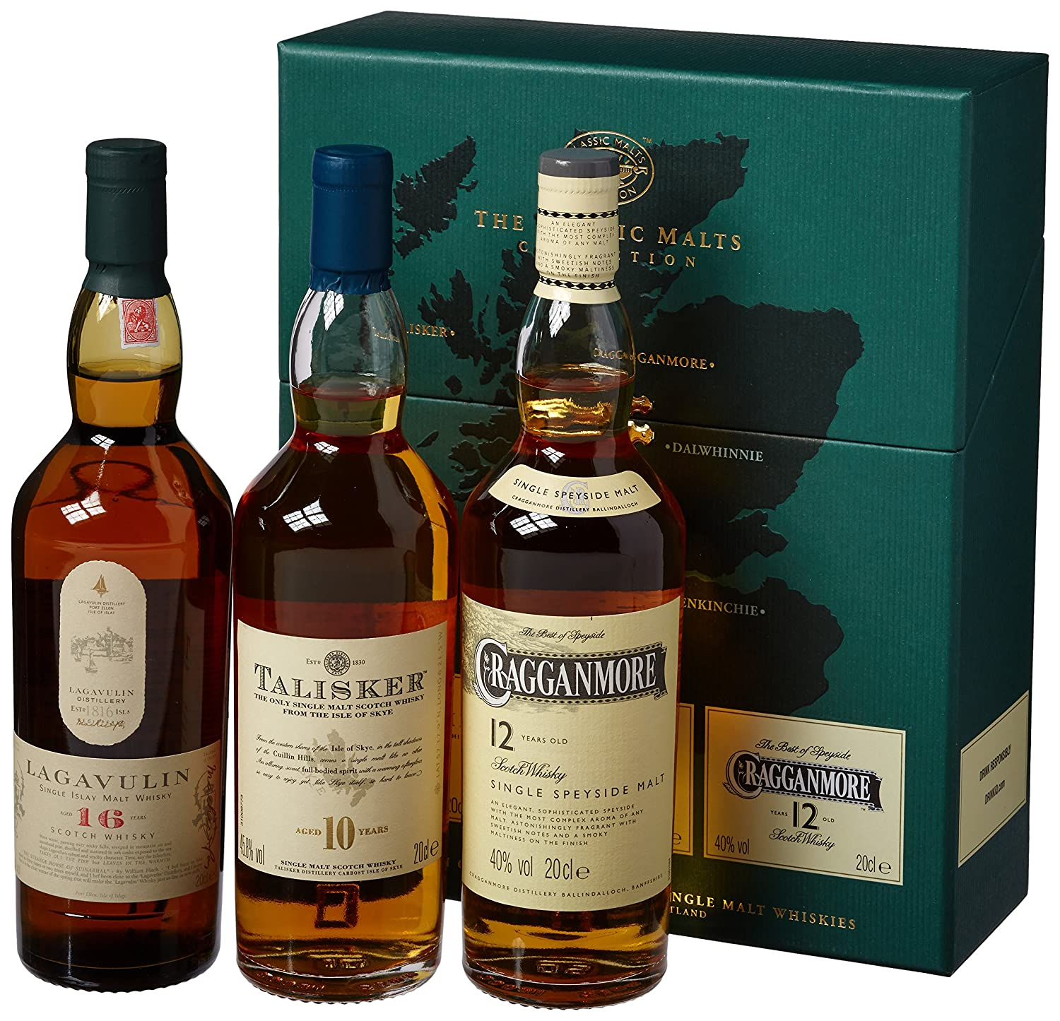Classic Malts Collection Strong Single Malt Whisky Pack (3 x 0.2 l ...