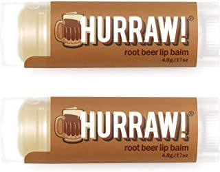 product image for Hurraw! Root Beer Lip Balm, 2 Pack: Organic, Certified Vegan, Cruelty and Gluten Free. Non-GMO, 100% Natural Ingredients. Bee, Shea, Soy and Palm Free. Made in USA