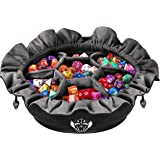 CardKingPro Immense Dice Bags with Pockets - Black - Capacity 150+ Dice - Great for Dice Hoarders [Patented Design]