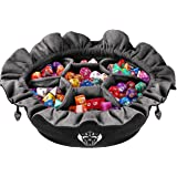 CardKingPro Immense Dice Bags with Pockets - Black - Capacity 150+ Dice - Great for Dice Hoarders