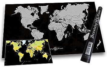 Amazon De Scratchy Planet Designer Weltkarte Zum Rubbeln