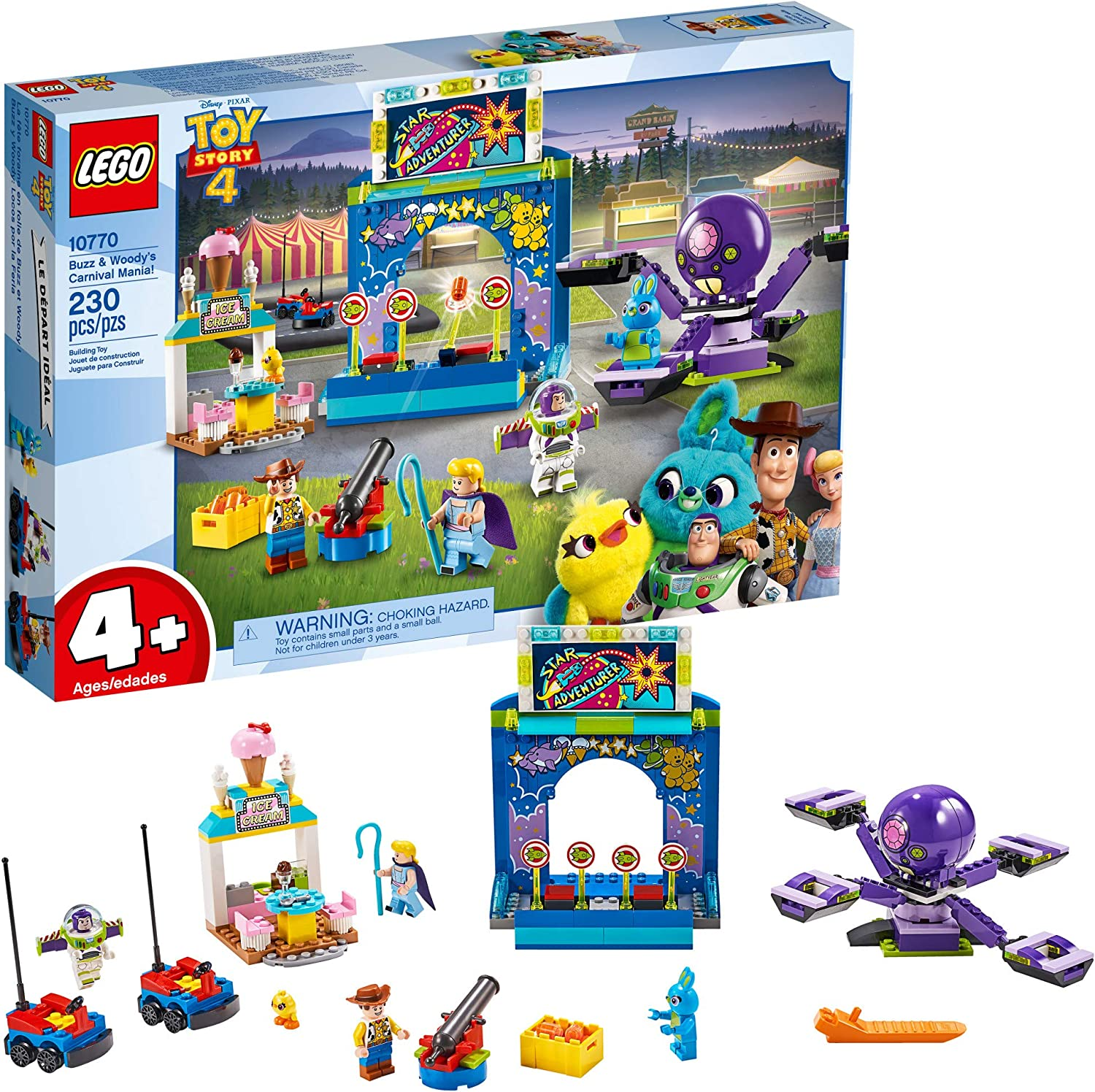 an image of a Lego set featuring the Toy Story 4, for girls 4+ years old.