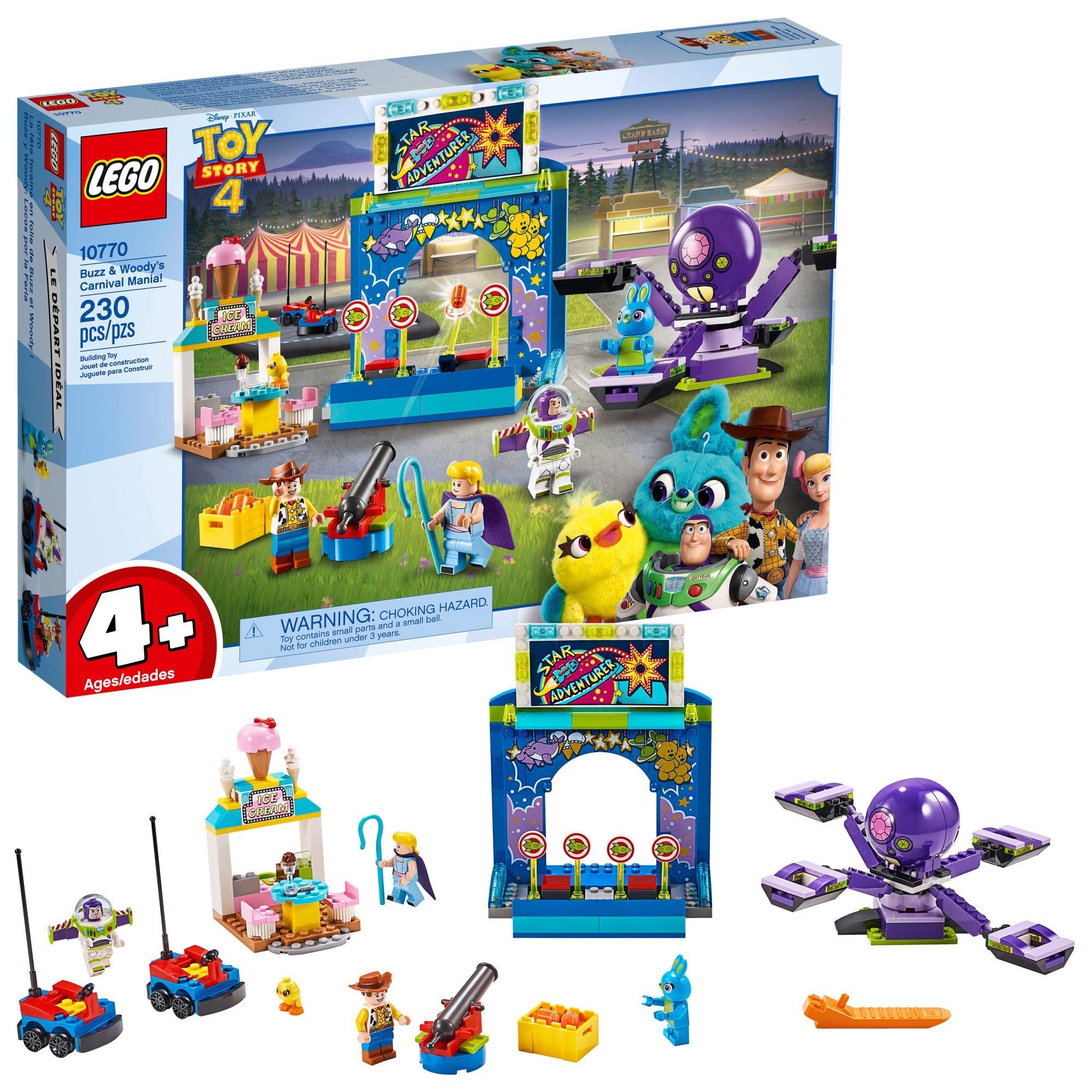 LEGO | Disney Pixar's Toy Story 4 Buzz & Woody's Carnival Mania 10770 Building Kit, New 2019 (230 Piece)