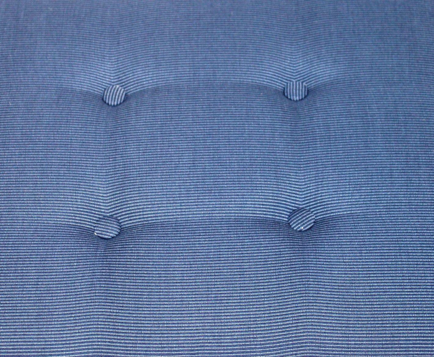 Bankauflage 150cm blau Sitzpolster Bankkissen mit Schlaufe: Amazon ...