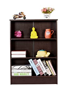 DeckUp Wood Dusun Matte Finish Book Shelf and Storage Unit (Dark Wenge)
