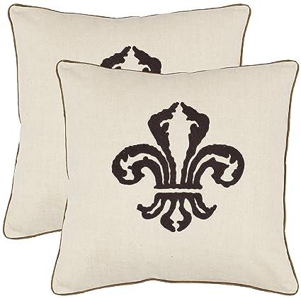 Amazoncom Safavieh Pillow Collection 18 Inch Fleur De Lis Pillow