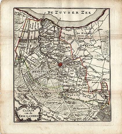 Amazoncom Antique MapNetherlandsAMERSFOORTEEMLANDZEIST