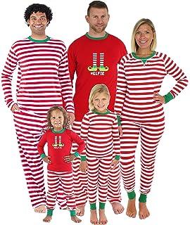 Amazon.com  Matching Family Christmas Boys Girls Pajamas Striped ... 9ca4f7108