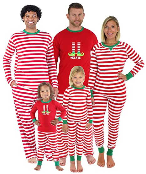8450bb0d3c Sleepyheads Christmas Family Matching Red Striped Elf Pajama PJ Sets - Kids  (SHM-5013