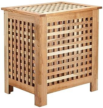 233fa1d33f87d panier linge duo en bois de noyer coffre. Black Bedroom Furniture Sets. Home Design Ideas