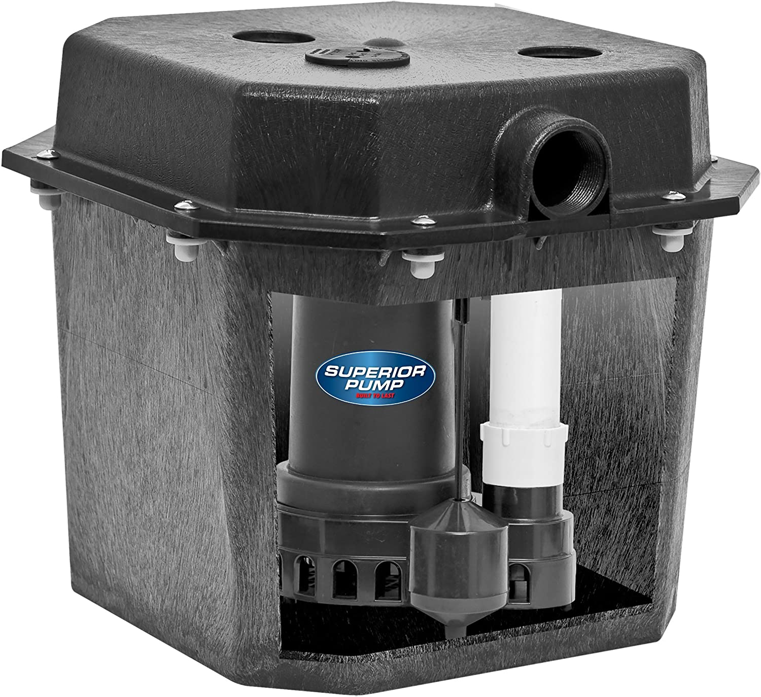 Superior Pump 92072 1/3 HP Pre-Assembled Submersible Remote Sink Drain Pump System