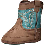 M&F Western Baby Boy's Bucker Open Range (Infant/Toddler) Brown/Turquoise Boot 0 Infant M