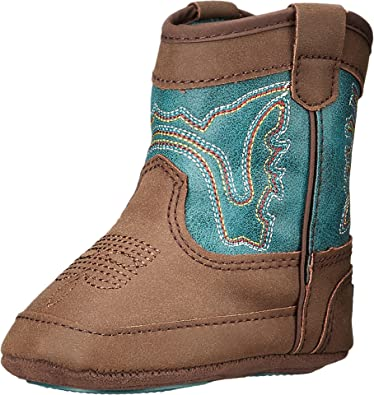 2ce75520cd9 M F Western Baby Boy s Bucker Open Range (Infant Toddler) Brown Turquoise  Boot